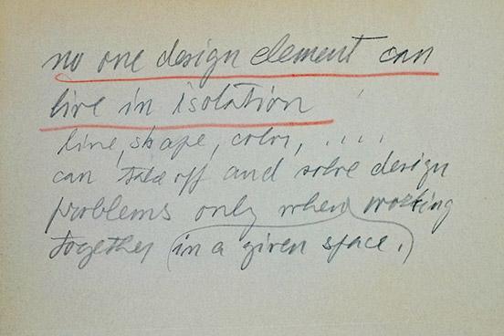 Note hand-written by Ladislav Sutnar.